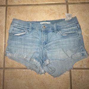 Abercrombie light wash denim shorts